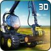 ヘイファームトラック運転手ログ3D KickTime Studios