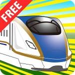 でんしゃスイスイ【電車・新幹線を走らせよう】【無料】幼児向 ぞうさん