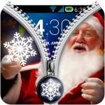 Zipper Lock Screen Christmas 3gFree