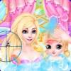 長髪王女と赤ちゃんの化粧スパ lemonbab