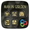 Man In GoldenGO Launcher Theme Freedom Design