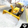 冬の雪のプラウトラック運転手 3D Games Village