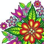 花マンダラ塗り絵 ColorTime