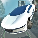 Futuristic Flying Car Driving GTRace Games