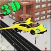 飛行スポーツカーレースの3D SoulColorx