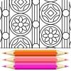 幾何学的な着色ページ ColorTime