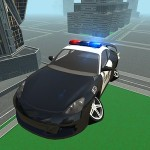 Futuristic Flying Police Car GTRace Games