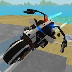 Flying Police Motorcycle Rider GTRace Games