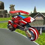 Flying Helicopter Motorcycle GTRace Games