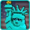 アメリカの建物:米国の探査-鉱山&探査 – キューブゲーム Tiny Dragon Adventure Games: Craft, Sport& RPG