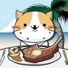 ねこの大食い大会 in ハワイでBBQ nekoappli
