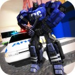 Traffic Police X Ray Robot 3D Art Mega Drive Games