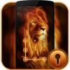 Fire Lion CM Security Theme CheetahMobile AppLock Theme