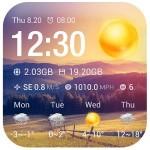 Clock & Weather Widget – Sunny Weather Widget Theme Dev Team