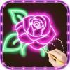 Draw Glow Flower Draw apps for free