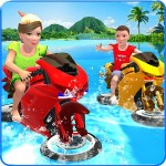 Kids Water Surfing Bike Racing GamyInteractive