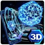 ネオン・ペンタゴン3Dテーマ Launcher Design