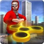Fidget Spinner Frisbee Hero vs Crime City Gangster crushiz