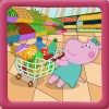 ベビースーパーマーケット – キッズショッピングゲーム Hippo Kids Games