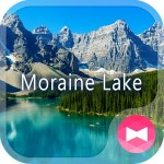 絶景壁紙アイコン ロッキー山脈とモレーン湖 無料 +HOME by Ateam
