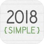 卓上カレンダー2018:シンプルカレンダー 「ウィジェット」 InitPlay