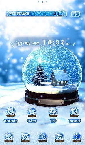 クリスマス壁紙アイコン スノーボール Home By Ateam アプリ