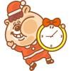 クマタン-クリスマス時計ウィジェット-無料 NOSInc.