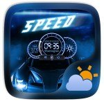 Speed GO Weather Widget Theme GOLauncher EX