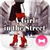 壁紙アイコン A girl in the street 無料 +HOME by Ateam
