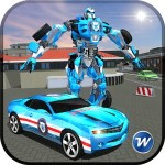 Police Car Robot Superhero Whiplash Mediaworks