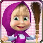 女の子のためのハウスクリーニングゲーム:マーシャと熊 Indigo Kids Education Games