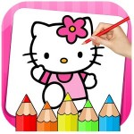 Kitty Coloring Book & Drawing Game UVTechnoLab