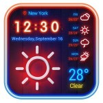 Weather App Neon Theme 2018 Weather Widget Theme Dev Team