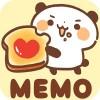 待受にメモ帳「焼きたて パンダ・ベーカリー」かわいいメモ帳ウィジェット無料 peso.apps.pub.arts